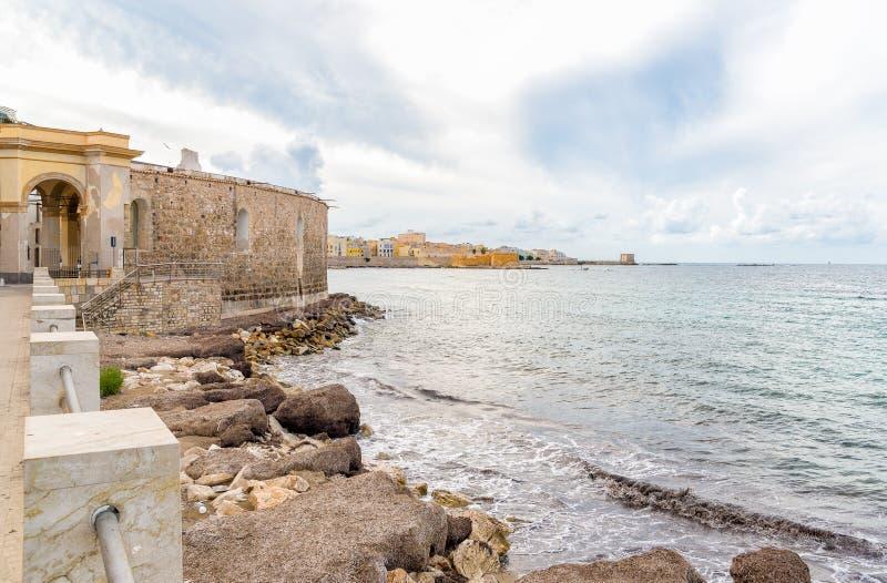 Seascape de Trapani, Itália fotos de stock royalty free