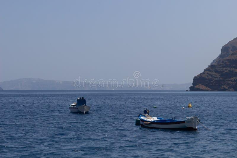 seascape dennej łodzi niebo chmurnieje pięknego widok obrazy stock