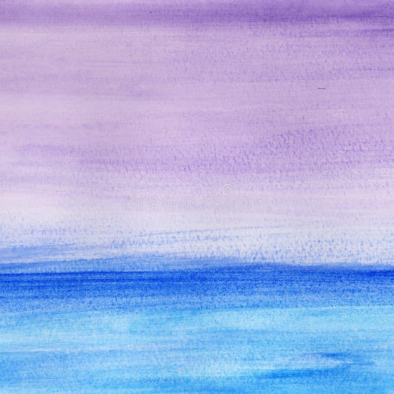 Seascape do inverno ilustração royalty free
