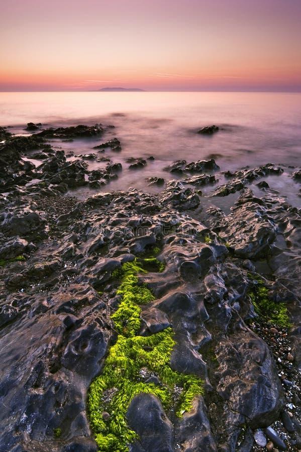 Seascape do nascer do sol imagens de stock royalty free