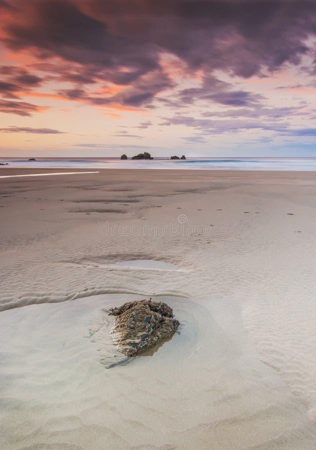 Seascape do por do sol fotos de stock
