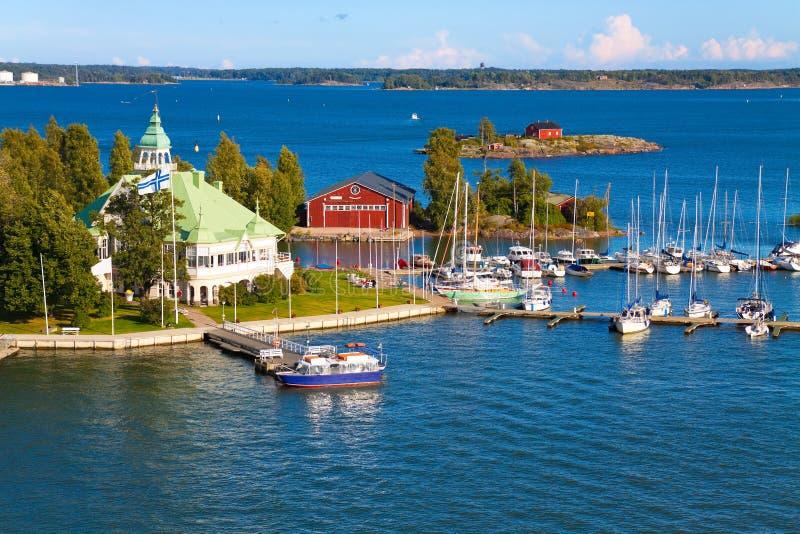 Seascape do verão em Helsínquia, Finlandia foto de stock royalty free