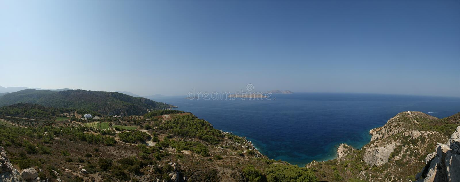 Seascape. Dodecanese Islands. In the Aegean Sea, Greece royalty free stock photos