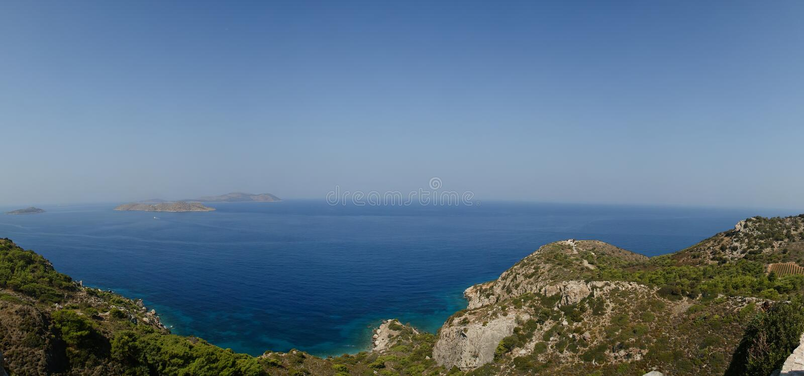 Seascape. Dodecanese Islands in the Aegean Sea, Greece.  royalty free stock photography
