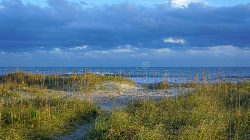 Seascape Dunes, Sand, Ocean Outer Banks, North Carolina royalty free stock photo
