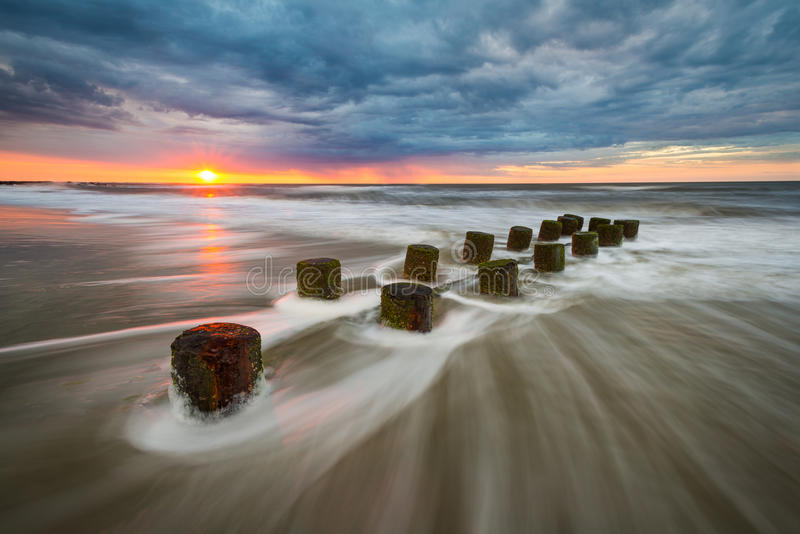 Seascape Ea de Charleston South Carolina Atlantic Ocean da praia do insensatez imagem de stock royalty free