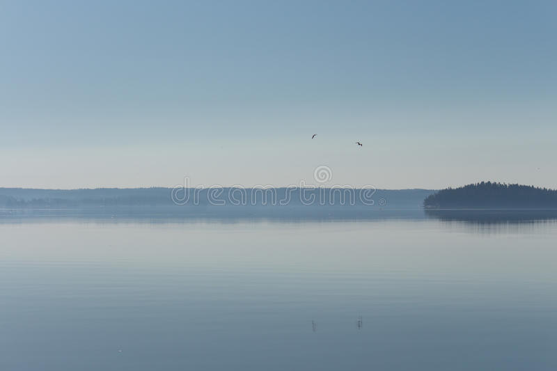 Seascape. Early morning, blue sky and seascape stock images
