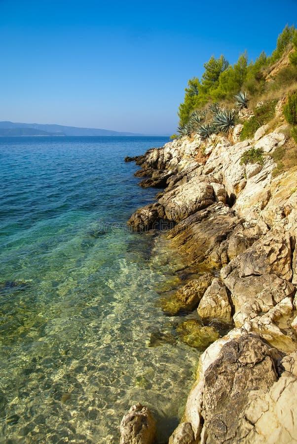 Seascape em Bol, Brac, Croácia foto de stock royalty free