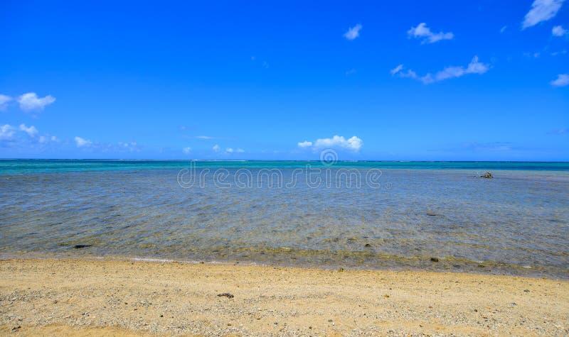Seascape em Le Morne, Maurícias foto de stock