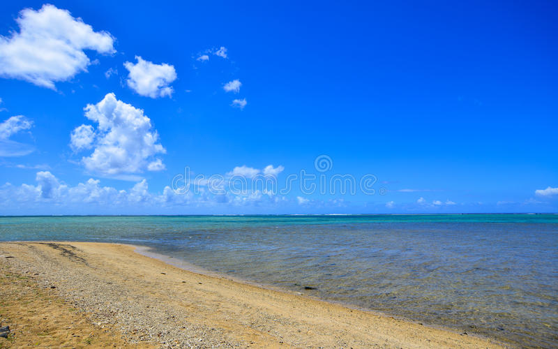 Seascape em Le Morne, Maurícias fotos de stock royalty free