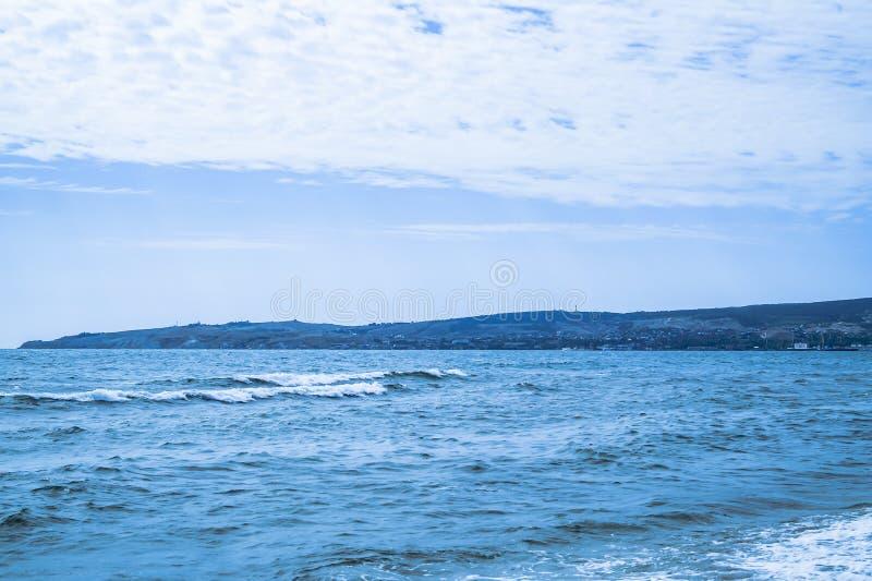 Seascape em um dia de verão fotografia de stock