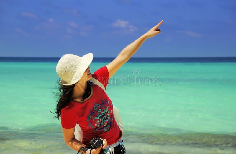 seascape för bakgrundsladystående fotografering för bildbyråer