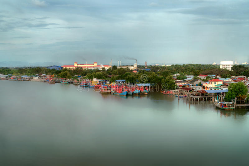 Download Seascape And Fisherman Village View From Kuala Kedah Bridge Stock Image - Image of ocean, island: 29120657