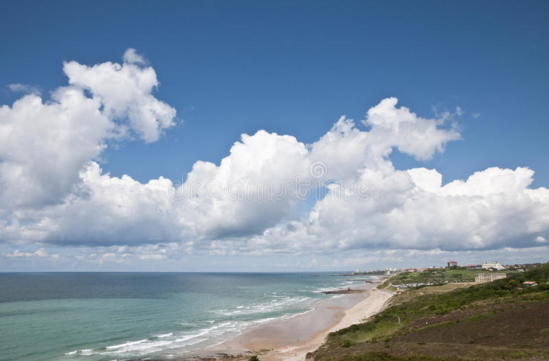Seascape of the french Atlantic coast stock images