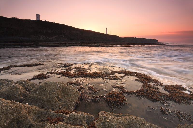 Seascape, Gales, Reino Unido imagens de stock