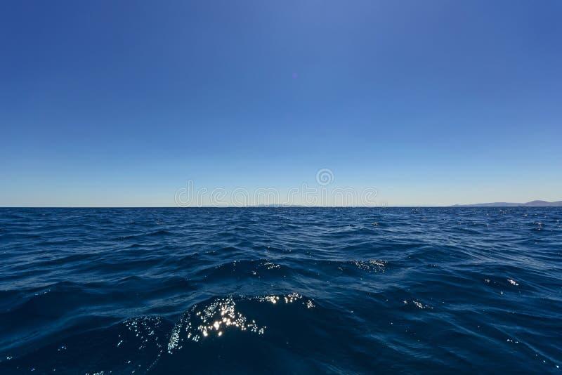 Seascape, horizonte & céu imagem de stock