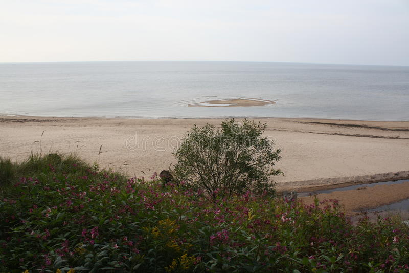 Download Seascape i Lettland fotografering för bildbyråer. Bild av material - 78726261