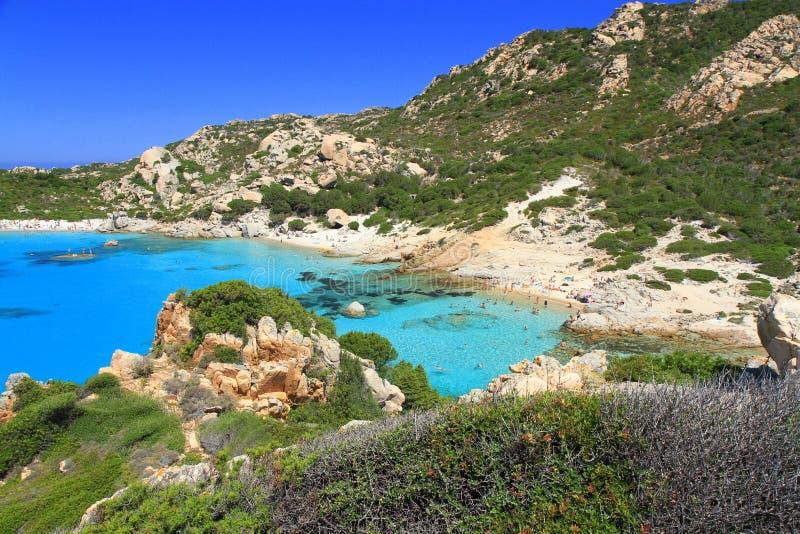 Seascape idílico, Sardinia foto de stock