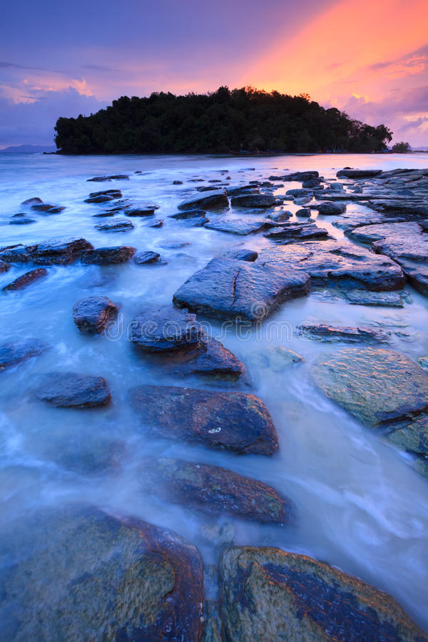 Download Seascape Of Klong Muang Beach At Sunset, Krabi, Thailand Stock Photo - Image: 34132106