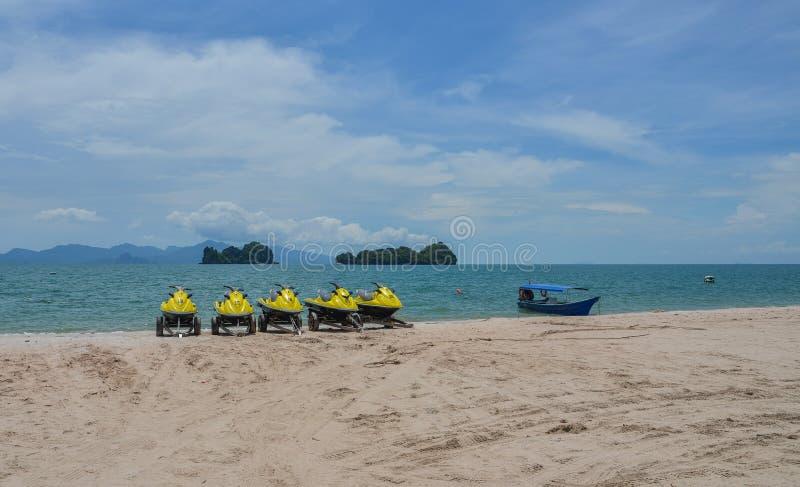 Seascape Langkawi wyspa, Malezja obrazy royalty free