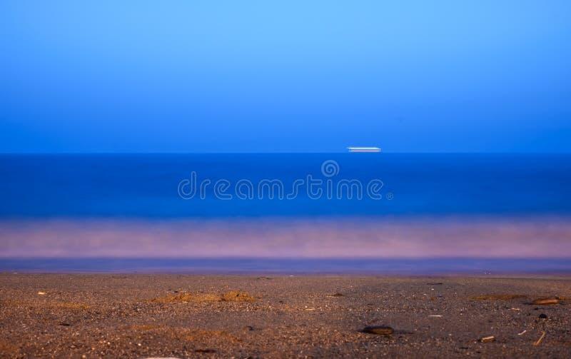 Seascape long exposure of Mediterranean sea royalty free stock photos