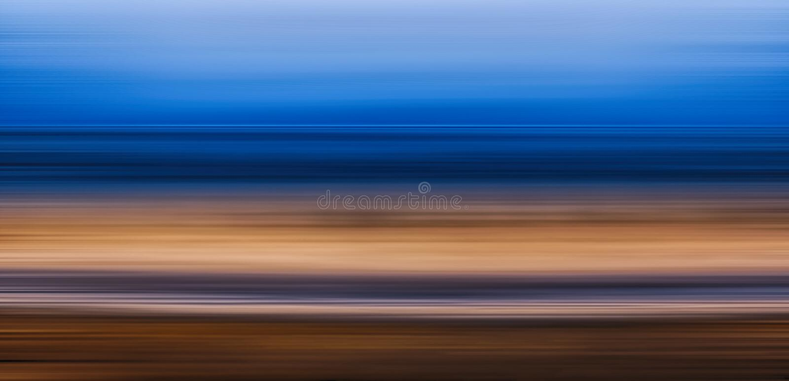 Seascape motion blur effect royalty free stock photography
