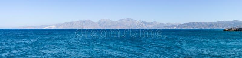 Seascape Mar Mediterrâneo imagem de stock