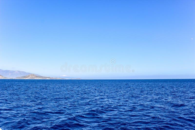 Seascape Mar Mediterrâneo Turquia Kemer fotografia de stock