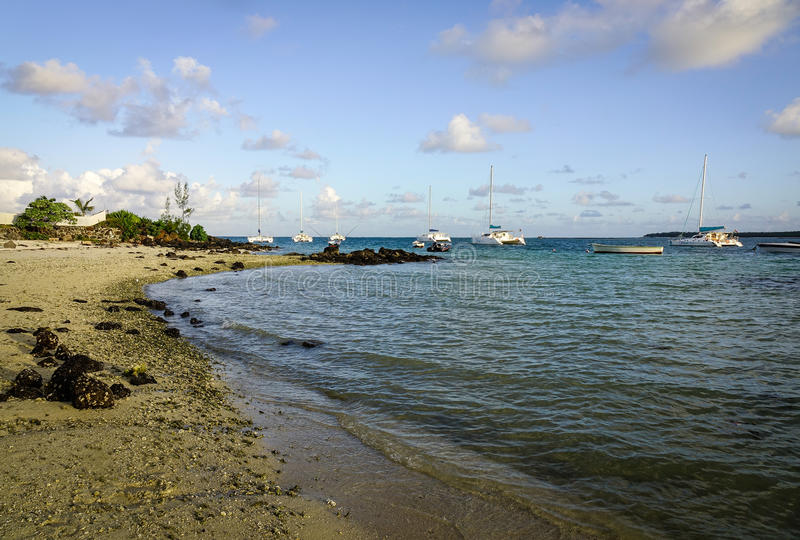 Seascape Mauritius wyspa zdjęcie royalty free