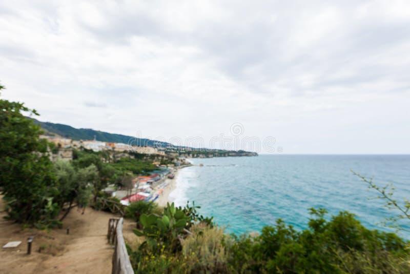 Seascape mediterrâneo, perto de Tropea fotografia de stock royalty free