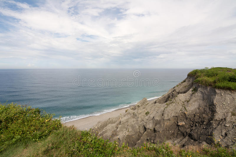 Seascape from the mountain royalty free stock image