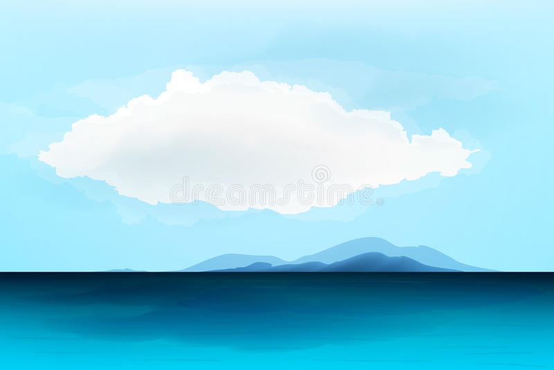 Download Seascape stock vector. Image of blending, transparency - 36474928