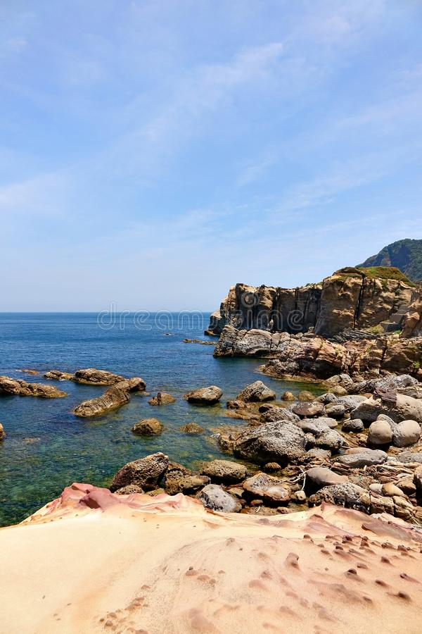 Nanya wonderful rock. Seascape of nanya wonderful rock in Taiwan royalty free stock photos
