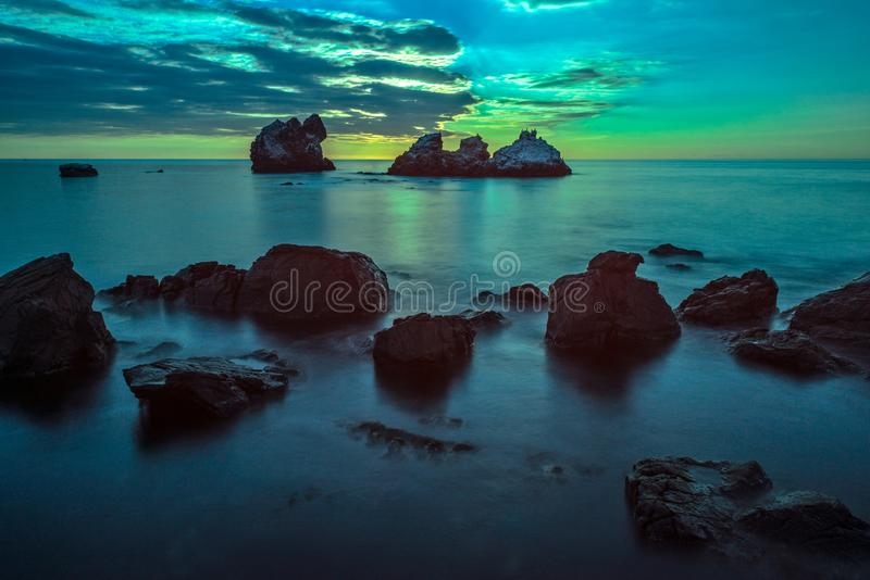 Seascape no luar fotos de stock royalty free