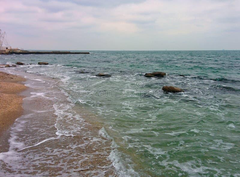 Seascape no mau tempo fotos de stock