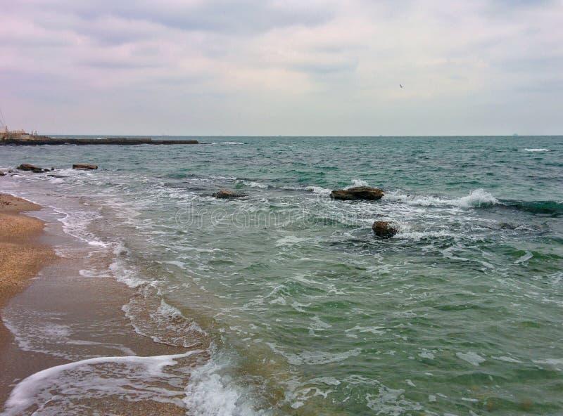Seascape no mau tempo foto de stock