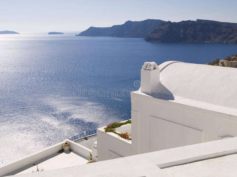 Download Seascape from Oia stock image. Image of horizon, scenery - 28191649