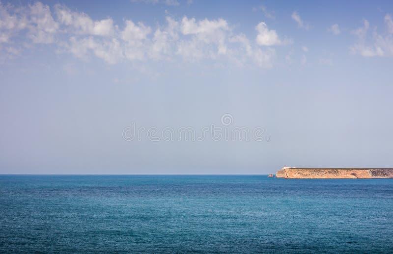 Seascape på udde Vincent i Portugal royaltyfria foton