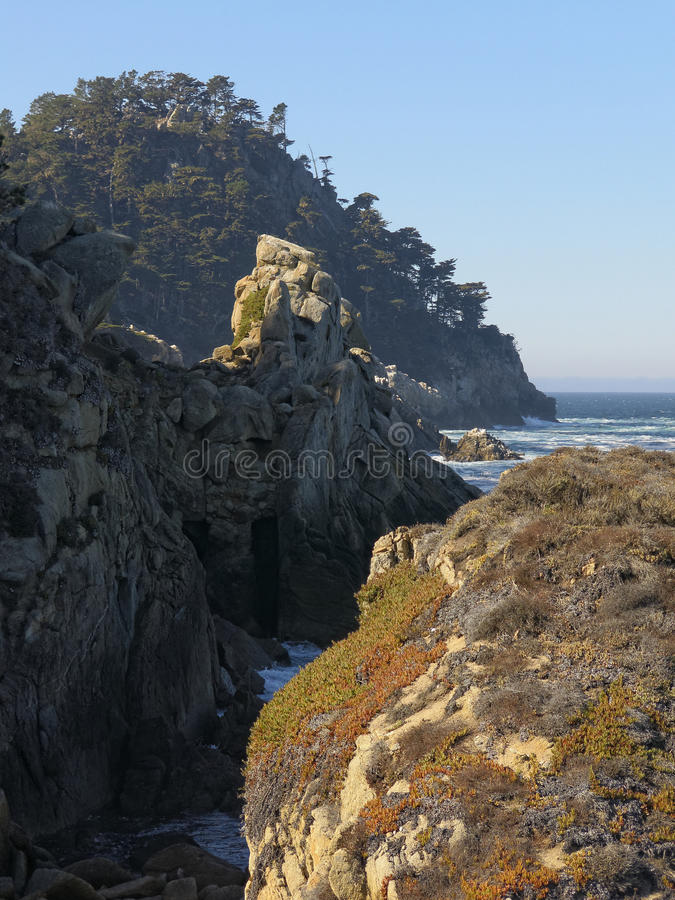Seascape perto de Monterey imagem de stock royalty free