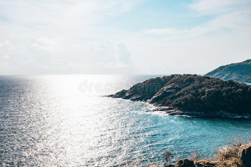 Seascape of Phuket Best View Point Sunset royalty free stock image