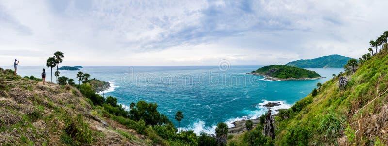 Seascape of Phuket Thailand stock images