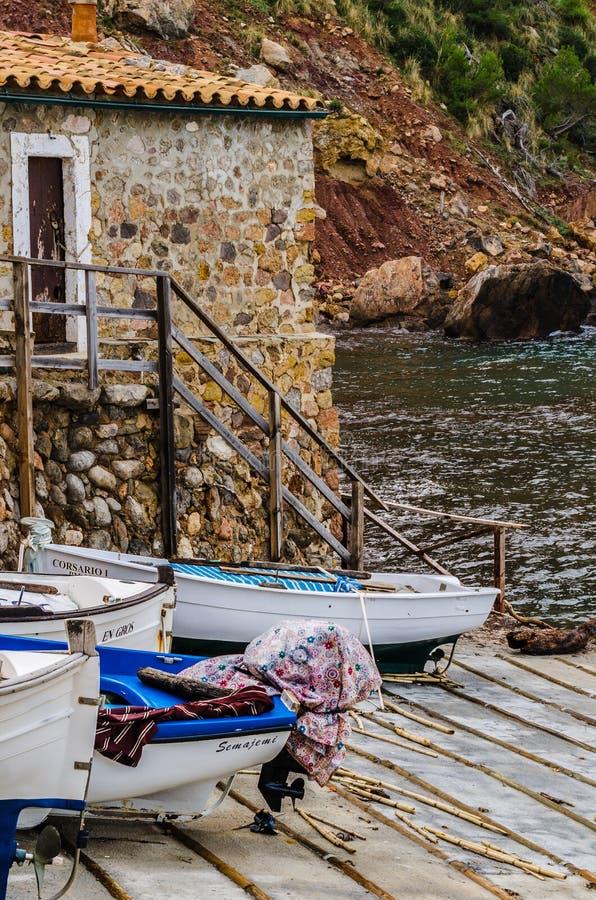 Seascape port de valldemossa, majorca, wyspy balearskie, hiszpania 2 obrazy stock