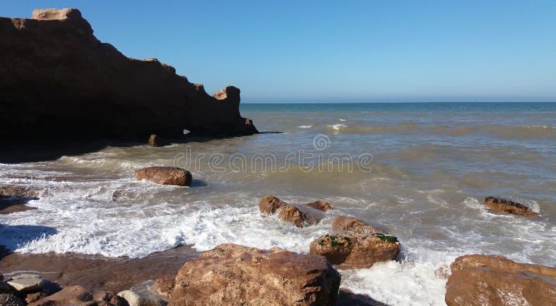 Seascape Rochas e mar foto de stock royalty free