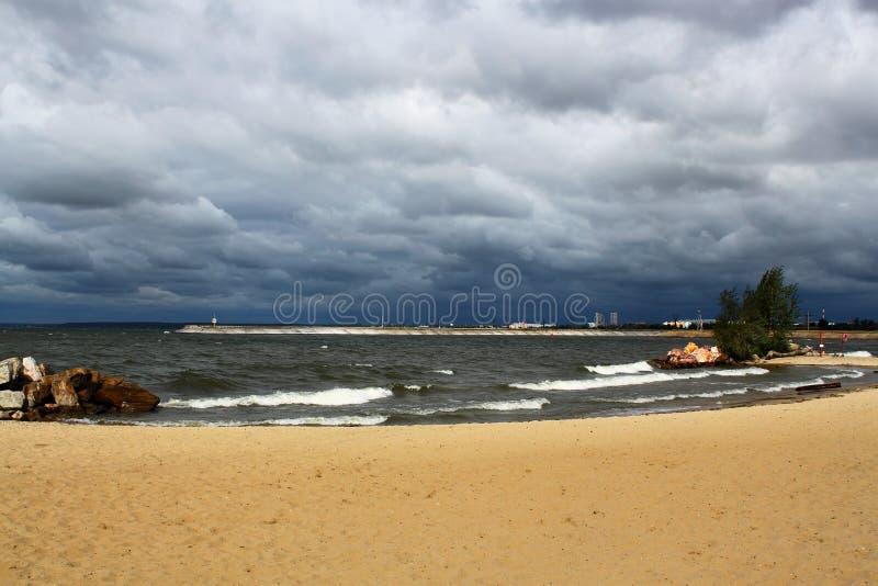 Seascape. Sandy beach. royalty free stock image