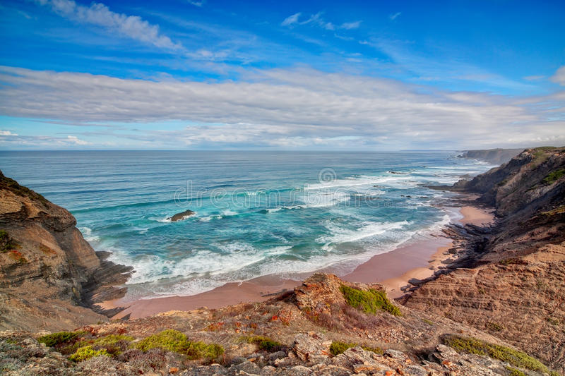 Download Seascape shore Vicentina. stock image. Image of nature - 27631289