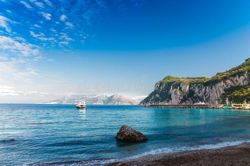 Seascape Shot On The Island Of Capri. Royalty Free Stock Image