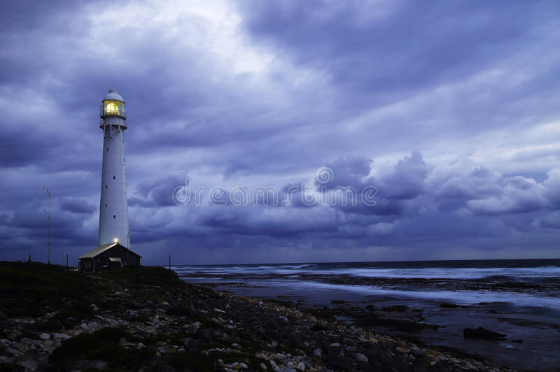 Seascape with storm stock photo