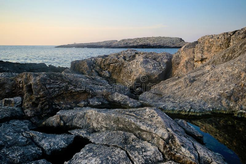 Seascape Tremiti wyspy na letnim dniu obrazy royalty free