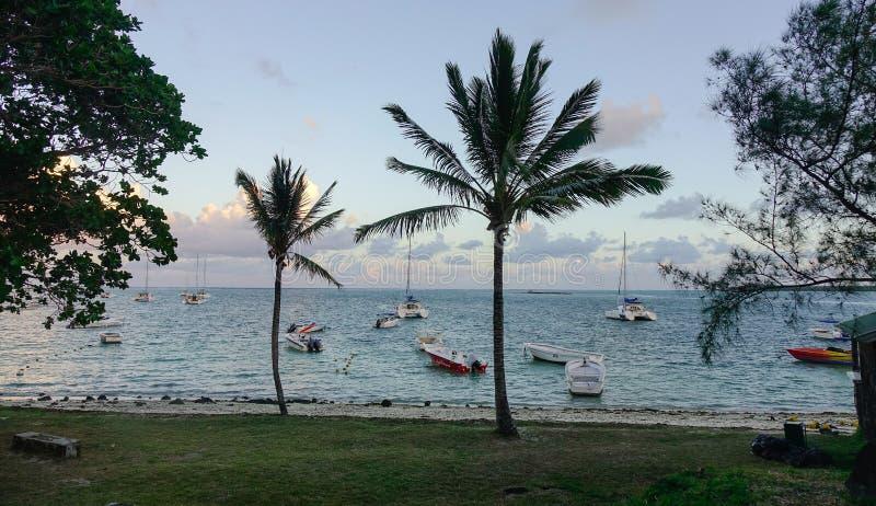 Seascape Uroczysty Baie, Mauritius fotografia royalty free