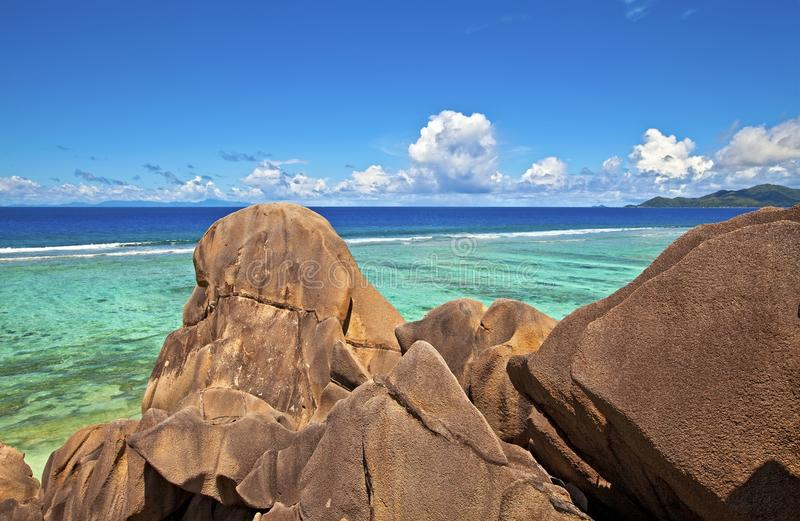 Download Seascape view stock photo. Image of huge, paradise, ladigue - 15553382